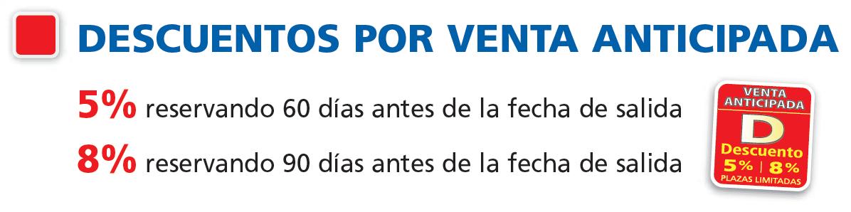 DESCUENTOS RESERVA ANTICIPADA POLITOURS DESCUENTOS CRUCEROS FLUVIALES