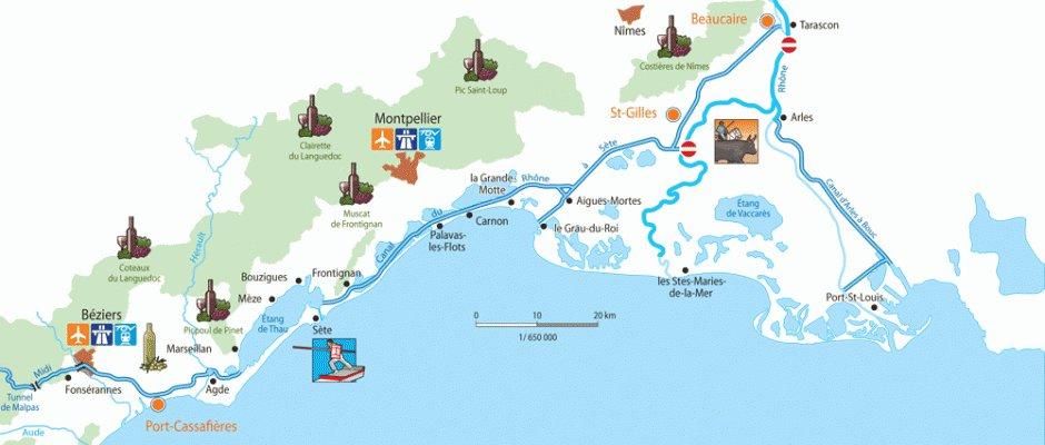 La Camarga Francesa Mapa.Crucero De Las Cruzadas Camarga Francesa Desde Port