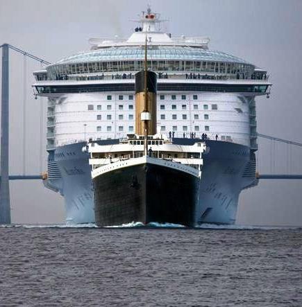 TITANIC VS OASIS CRUCERO MAS GRANDE DEL MUNDO OASIS OF THE SEAS DESDE BARCELONA