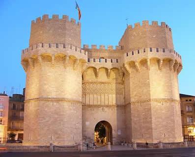 Puerta de los Serranos, Valencia... Fortaleza palmaria